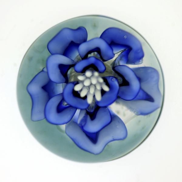 Paperweight - Blue Flower
